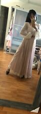 🌸Gunne  00006000 Sax Sz 9 Victorian Vintage Renaissance Pink White Lace Princess Dress 🌸