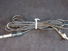 "VINTAGE 1/4"" male phono plug to 1/8"" male RCA plug with 48"" cord made in JAPAN"