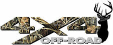 4x4 Off Road MAX CAMO Deer Head Camouflage TRUCK Decal/Sticker CHEVY DODGE FORD