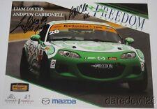 2016 Freedom Autosport #26 Mazda MX-5 Miata ST signed IMSA CTSC postcard