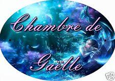 PLAQUE DE PORTE OVALE RIGIDE REF 03 personnalisée avec prénom CHAMBRE