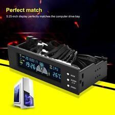 PC CPU 3 Channels Fan Controller Speed Control Adjuster LED Cooling Front Panel