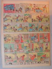 Mickey Mouse Sunday Page by Walt Disney from 4/13/1941 Tabloid Page Size