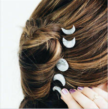 5 pcs/set Fashion Silver Stars Moon Hairpin Set Women Hair Clips for Women