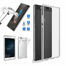 Transparent Crystal Clear Case Cover Gorilla tempered glass For huawei / Samsung