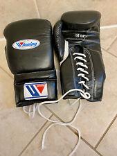 Winning Boxing Gloves Black Color Lace Up 16 Oz 16oz Ms-600