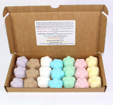 Bath Bombs Mixed Scents of 21 X 10g Flowers Bee REDUCED Plastic
