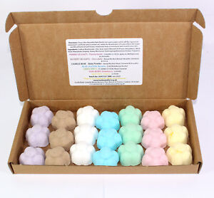 Bath Bombs mixed scents of 21 x 10g Flowers Bee Beautiful reduced plastic