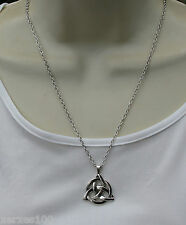 Silvertone Celtic knot necklace pendant- wicca Witch pagan new age BNWT