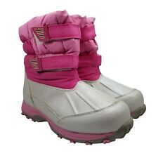 Ll Bean Girl's Boots Size 5 Snow Tread Waterproof Insulated Pink Kids 289143