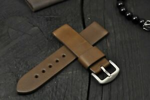 Handmade Leather Watch Strap 16mm - 26mm, Mens Watch Band Olive