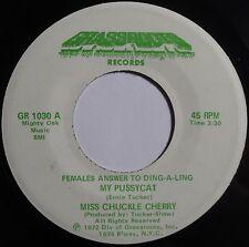 MISS CHUCKLE CHERRY ~ MY PUSSYCAT funk FEMALE 45 super GRASSROOTS hear