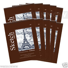 Quality Sketch Paper Book Pad, 9 x 12 inches, Top Bound Each 30 Sheets, 10 Pcs