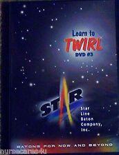 BATON TWIRLERS DVD 3 INSTRUCTION FISHTAILS,ILLUSIONS,ELBOW ROLLS BACKCATCHES