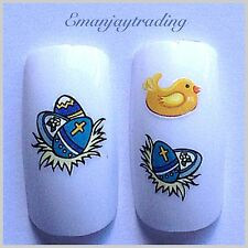 Nail Art Water Decals/ Transfers #125 Easter Eggs & Chicks