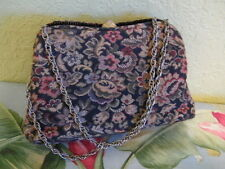 VINTAGE HL HARRY LEVINE TAPESTRY PURSE md in U.S.A. CHAIN ADJ STRAPS