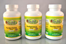 Pine Bark Extract 50mg, Blood, antioxidant - 300 capsules (3x100). Made in USA.