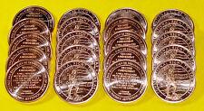 "20 New Coins "" 2nd Amendment Design "" 1 oz each .999 Fine Copper Bullion"