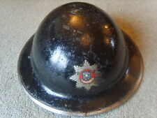 Cold War period Lindsey Lincolnshire Fire Brigade steel helmet size 7