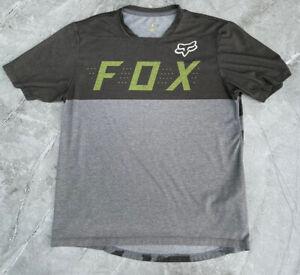 Fox Flexair MTB / DH Short Sleeved Jersey Mens M Medium Grey