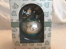 "Charming Tails ""Holdin' On "" Mouse Glass Christmas Ornament"