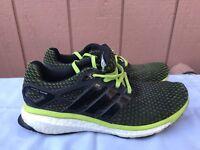 $160 Adidas Consortium Men's US 10.5 Energy Boost Black Green Running Shoes A2