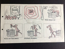 """PINK PANTHER"" 1960's Original Storyboard Hand Drawn & Signed by Friz Freleng"