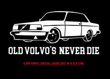 volvo shield old volvo car decal  sticker left right exterior 1pcs white