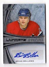 BRIAN BELLOW NHL 2015-16 LEAF ULTIMATE AUTOGRAPH MEMORABILIA #/30 (CANADIENS,