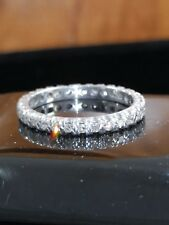 Vintage 18ct White Gold Super Spark Full 0.60ct Diamond Eternity Ring Size P-1/2