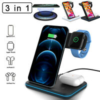 15W Qi Wireless Fast Charging Station Stand Dock For iPhone 12 Mini Pro Max