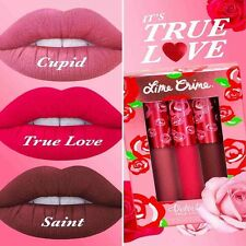 Lime Crime Velvetines Liquid Matte Lip Gloss Lipstick - True Love Set Box UK