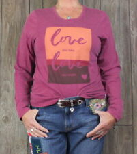New Life is good L size Love Tee Shirt Pink Orange Womens Lightweight Top Blouse