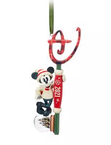 Y1 BNWT Shop Disney Store 2021 MICKEY MOUSE Key Christmas Decoration Ornament