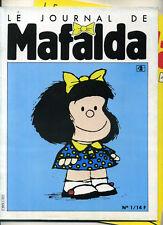 JOURNAL DE MAFALDA N° 1 ET 2. QUINO. 1986