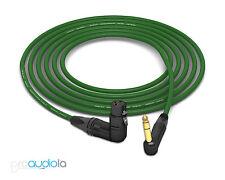 Mogami 2534 Quad Cable | Neutrik Gold 90º TRS to 90º XLR-F | Green 4 Feet 4 ft.