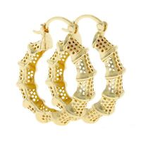 18k Layered Real Gold Filled Round Hoop Earring