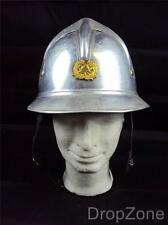 Genuine Yugoslavian Aluminium Fire Fighters Helmet with Insignia