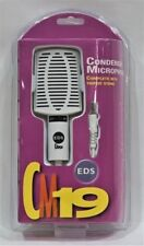 NEW EDS White Condenser Omni Directional Microphone CM19 with Tripod Stand
