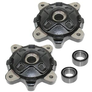 Front Left Right Wheel Hubs And Ball Bearings for Polaris RZR 4 XP 900 2012-2013