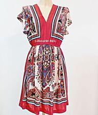 Ärmellose Damenkleider im Tuniken-Stil mit V-Ausschnitt aus Polyester
