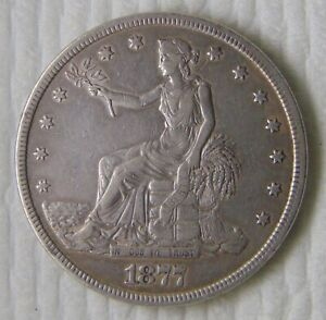 1877 Silver Trade Dollar, $1, High Grade!