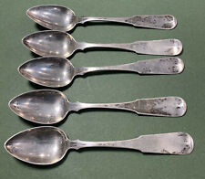 Antique George Gray Coin Silver Spoons Dover, New Hampshire