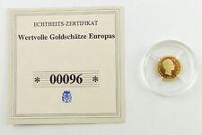 #e7270 Münze Wertvolle Goldschätze Europas 585 Gold *00096* Alfonso XII.