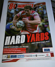 Wigan Warriors v St Helens 18th September 2011 Qualifying Play Off @ DW Stadium