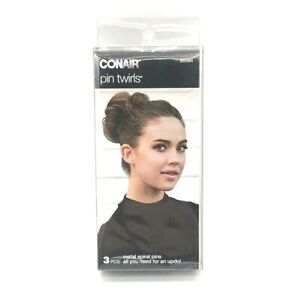 Conair Pin Twirls Metal Spiral Pins for Long Hair #55584 NEW