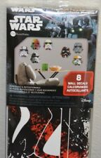 H 11 STAR WARS 8 WALL DECALS NEW