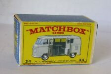 Repro Box Matchbox 1:75 Nr.34 Volkswagen Camping Car silber