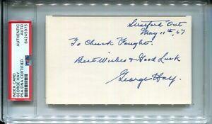 George Hay Signed 3x5 Index Card CLEAN Cut Signature Autograph PSA/DNA RARE