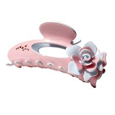 Moliabal Milano Large Pinza   Claw-  Pale Pink   Rose + Crystal Accents